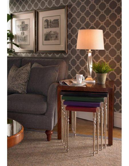 Square & Rectangular Side Tables Alexander Julian Designs Five Nesting Tables-89