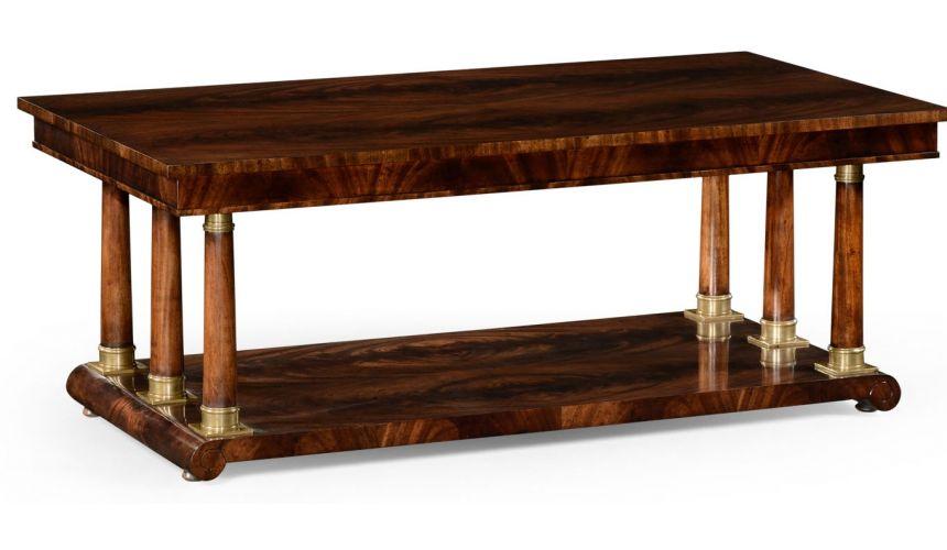Coffee Tables Mahogany biedermeier style rectangular coffee table