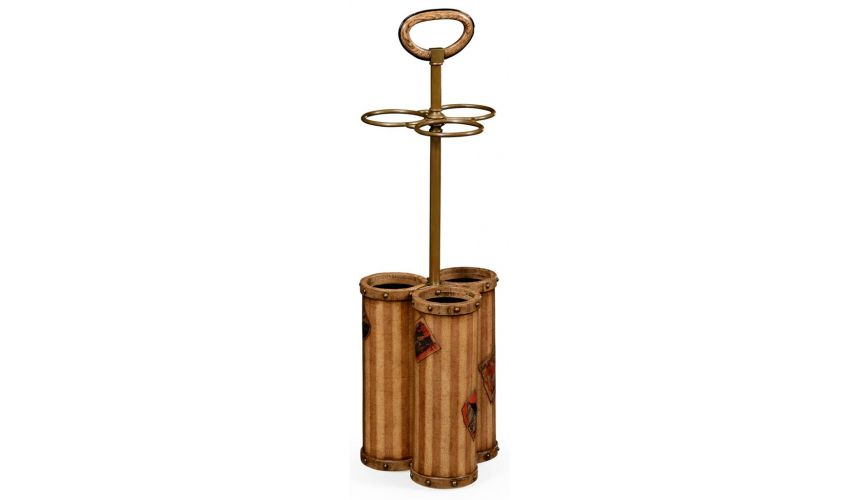 Foyer and Center Tables Antique Oak Wood Umbrella Stand-11