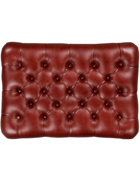 OTTOMANS Large Chesterfield style footstool or ottoman.