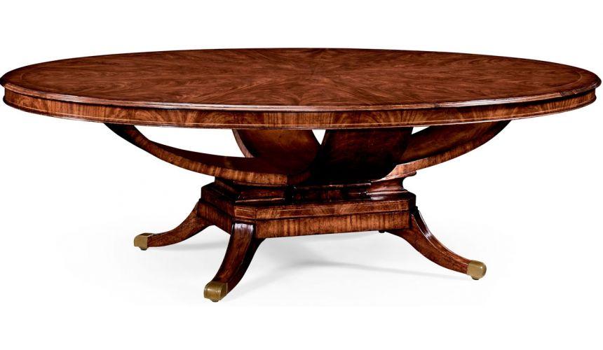Dining Tables Biedermeier style mahogany oval dining table