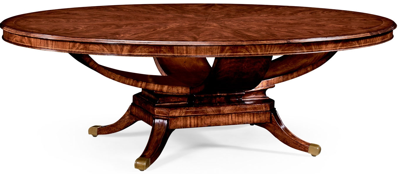 Superior Dining Tables Biedermeier Style Mahogany Oval Dining Table