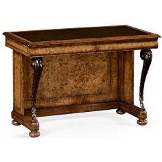 Burr oak writing desk.