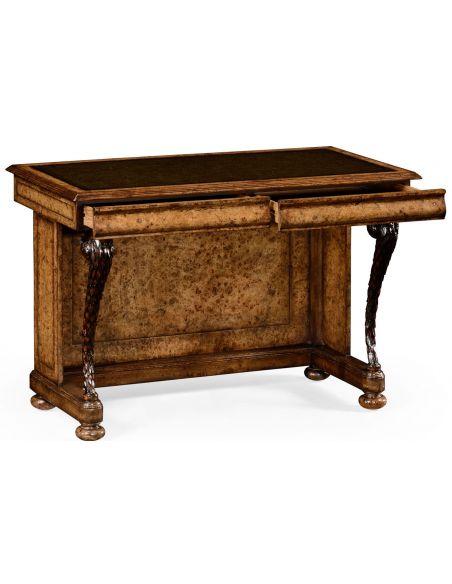 Executive Desks Burr oak writing desk.