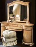 The grand vanity and mirror is a classical look