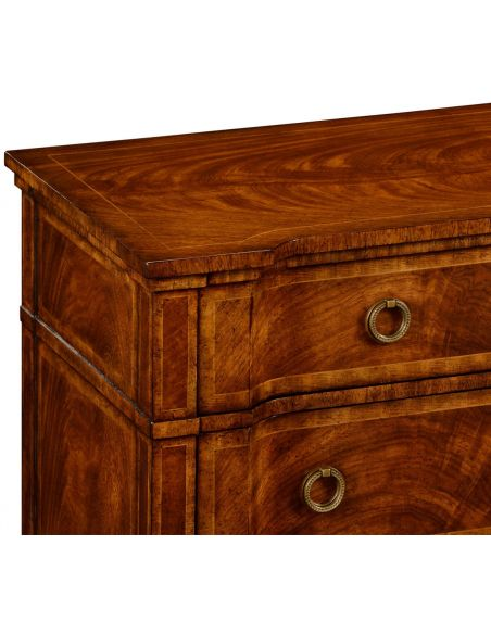 Chest of Drawers Regency style walnut reverse breakfront chest of drawers
