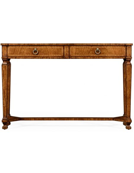Console & Sofa Tables Empire style walnut two drawer console