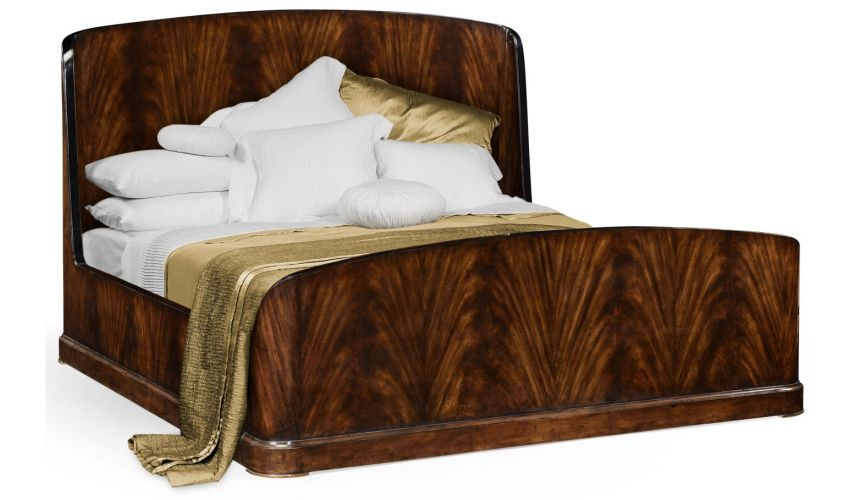 BEDS - Queen, King & California King Sizes Mahogany Biedermeier bed (US King).