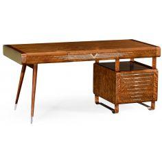 50's Americana pedestal desk.