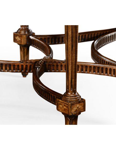 Executive Desks Napoleon III style writing table with fine inlay.