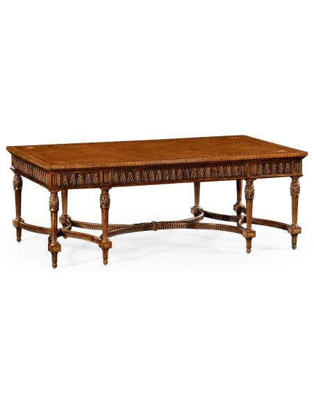 Coffee Tables Napoleon III style coffee table with fine inlay