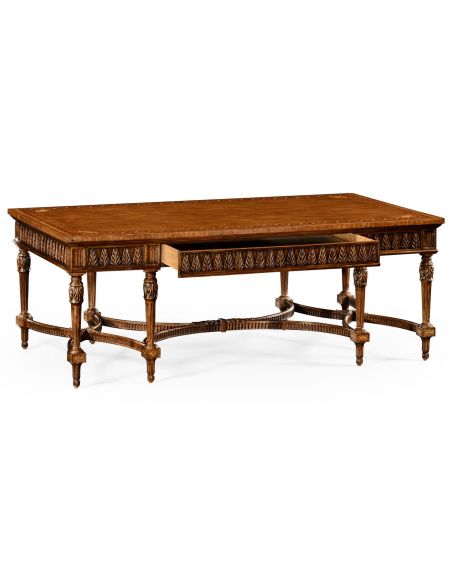 Rectangular and Square Coffee Tables Rectangular French Style Coffee Table-93