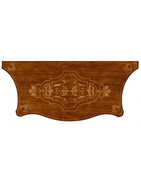 Foyer and Center Tables Marquetry Inlaid Chest of Drawers-04