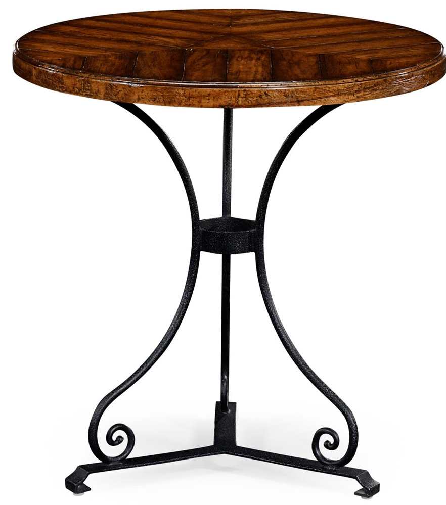 Walnut bistro style parquet table for Html table style