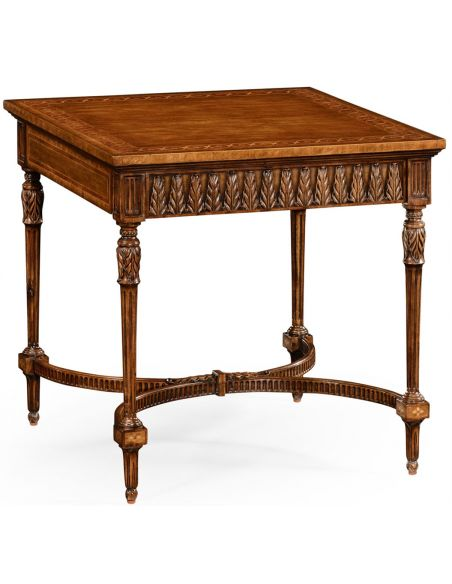 Square & Rectangular Side Tables Napoleon III style side table with fine inlay