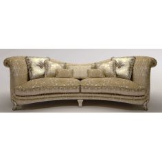 Upholstered Sofa with Curved Backrest