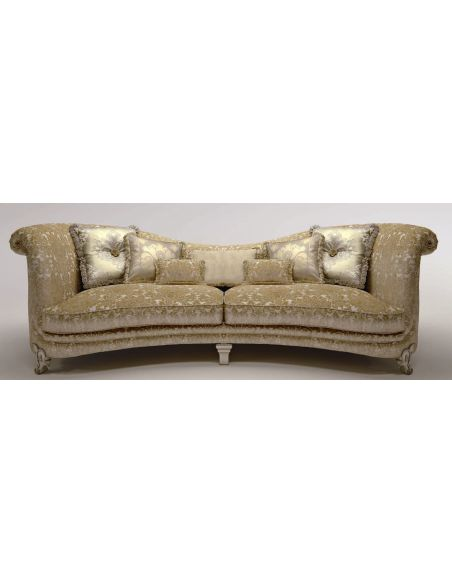 SOFA, COUCH & LOVESEAT Upholstered Sofa with Curved Backrest