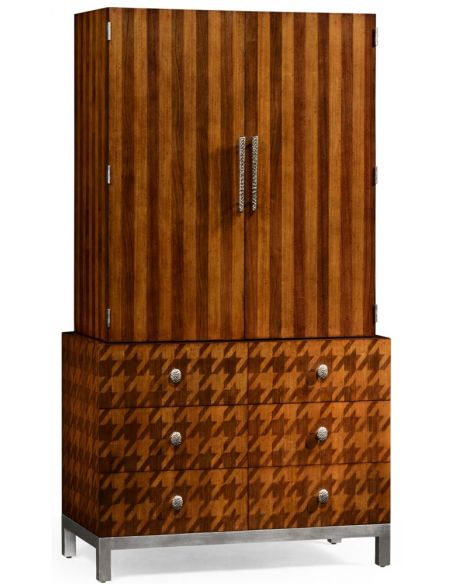 Display Cabinets and Armories Houndstooth wardrobe.
