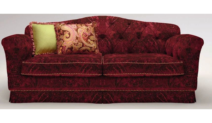 SOFA, COUCH & LOVESEAT Perky Upholstered 2-Seater Sofa