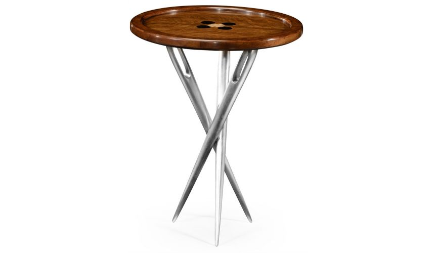 """Round & Oval Side Tables \\""""Cute as a Button\\"""" side table."""
