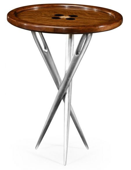 "Round & Oval Side Tables \""Cute as a Button\\"" side table."