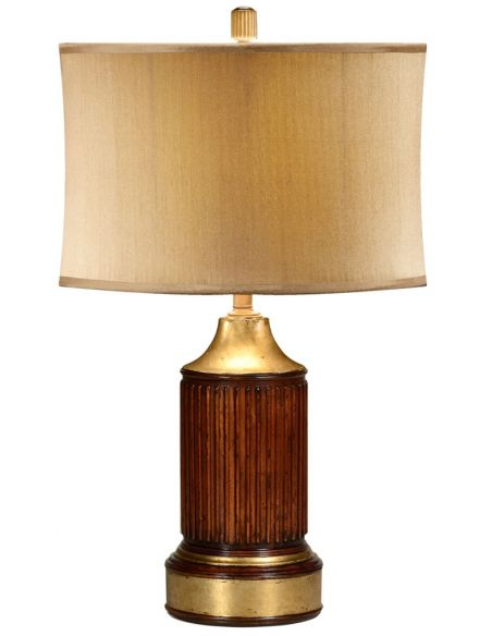 Table Lamps Round fluted mahogany lamp table