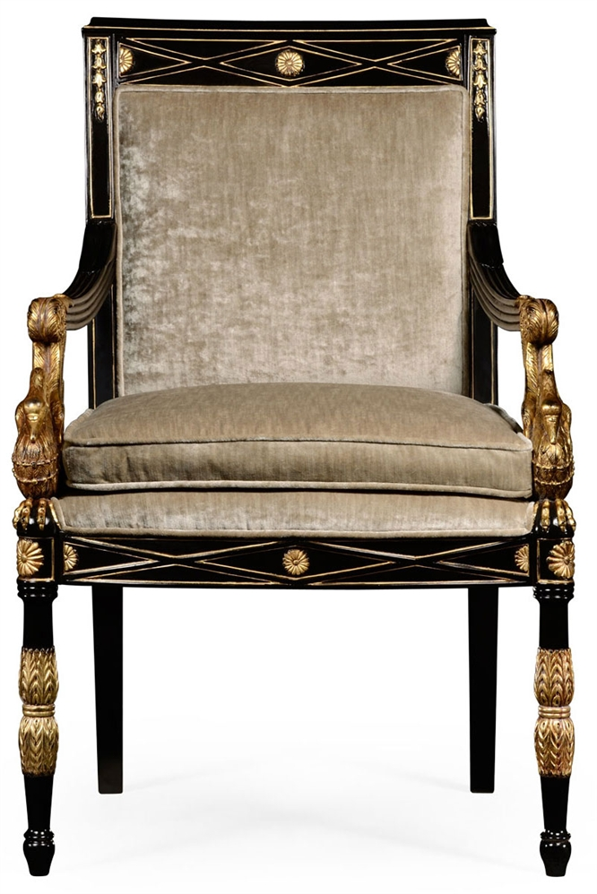 Dining Chairs Empire Style Swan Arm Chair