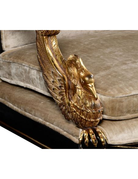 Dining Chairs Empire style swan arm chair.