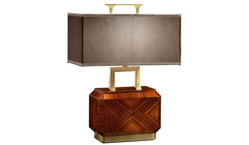 Modern Furniture Tea caddy rosewood table lamp