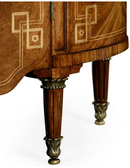 Foyer and Center Tables 18th century bow fronted commode