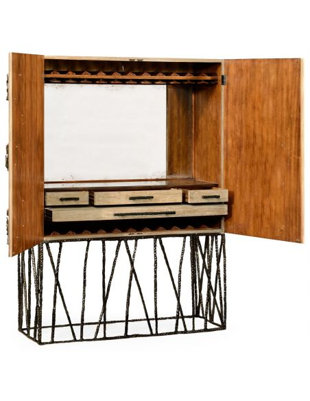 Home Bar Furniture Falling leaves drinks cabinet
