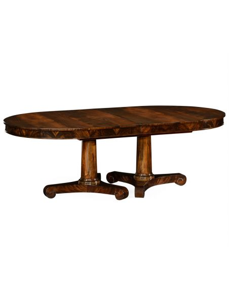 Dining Tables Mahogany twin leaf Biedermeier style dining table.
