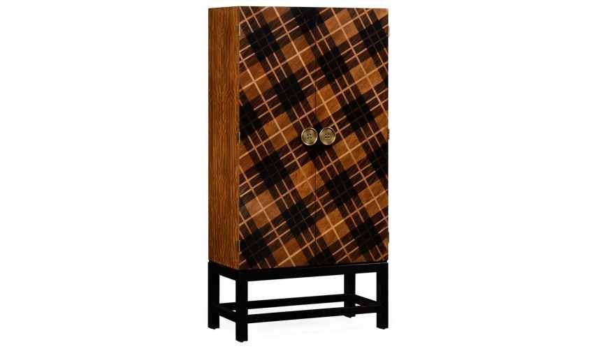 Home Bar Furniture Tartan Haberdashery chest.