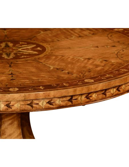 Dining Tables Flip top centre table with fine marquetry work
