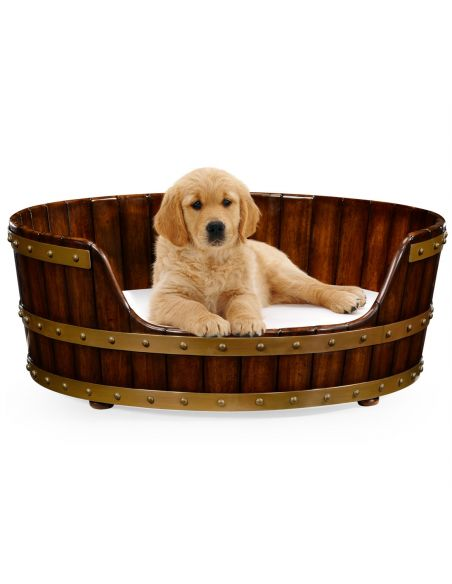 BEDS - Queen, King & California King Sizes Walnut wooden dog bed 32.
