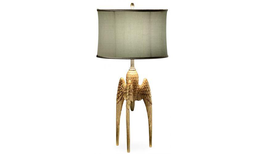 Lighting Gilded table lamp