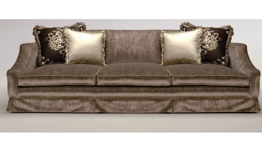 SOFA, COUCH & LOVESEAT Upholstered Sofa with Curved Arms