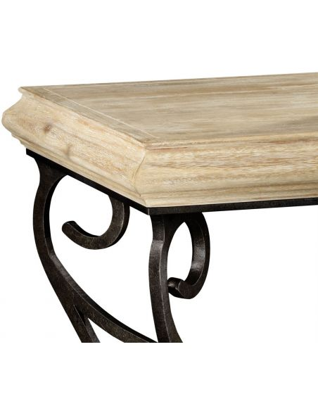 Square & Rectangular Side Tables Square side table with wrought iron base