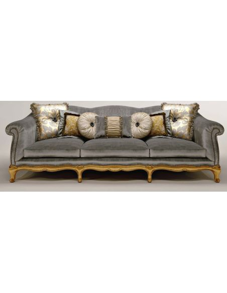 SOFA, COUCH & LOVESEAT Metal Accented Upholstered Sectional Sofa