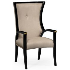 Black and Tan dining armchair