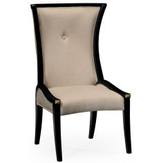 Black and Tan dining side chair