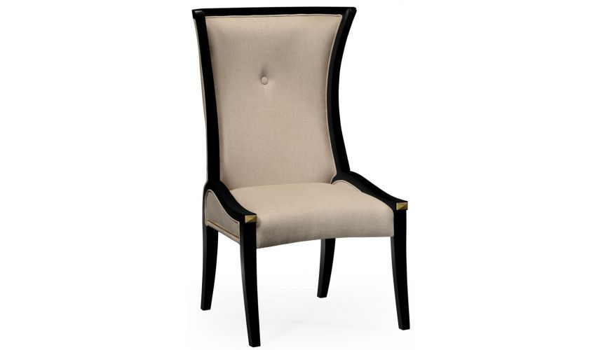Dining Chairs Black and Tan dining side chair