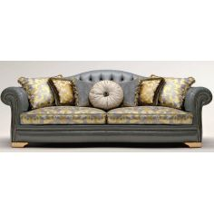 Button Tufted Upholstered Sectional Sofa