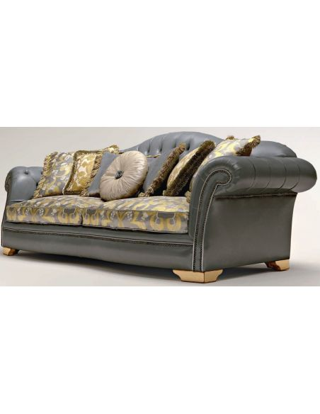 SOFA, COUCH & LOVESEAT Button Tufted Upholstered Sectional Sofa