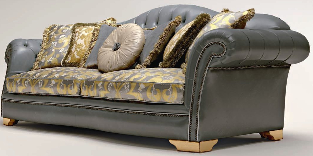 SOFA, COUCH U0026 LOVESEAT Button Tufted Upholstered Sectional Sofa