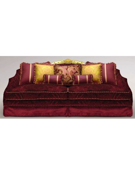 SOFA, COUCH & LOVESEAT Crown Headed Upholstered Sectional Sofa