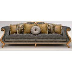 Upholstered Sofa with Sock-Rolled Armrest