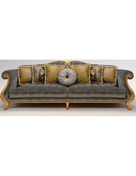 SOFA, COUCH & LOVESEAT Upholstered Sofa with Sock-Rolled Armrest