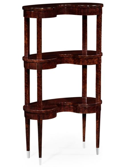 Bookcases Kidney-Shaped Three- tier Bookcase