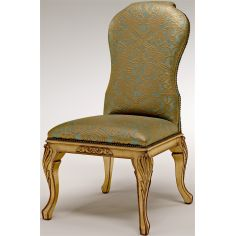 Armless Dining Chair with gold lettering